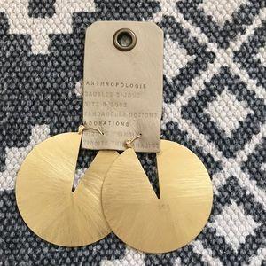 Anthropologie Lunar Cutout Hoop Earrings,  new